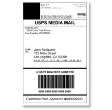 usps label template sts media mail usps media mail shipping