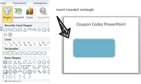 How To Create A Simple Coupon Powerpoint Template With Shapes Powerpoint Coupon Template