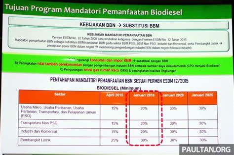 Bio Dan Kegunaan perlaksanaan biodiesel dari pengalaman indonesia