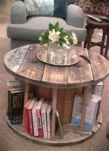 Wood Slice Coffee Table - diy wooden cable drum furniture ideas 99 pallets