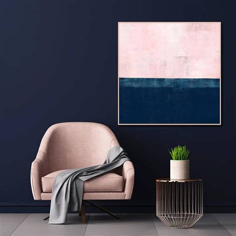 Navy Blue And Pink Wall