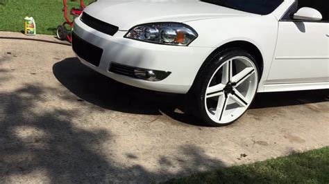 K 46 Wheels Sling White 2008 impala on 24 quot irocs white on white after detail