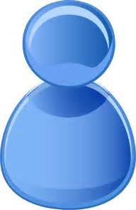 user symbol blue clip art  vector vector