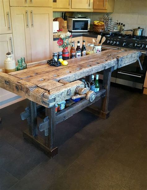 rustic oak butcher block kitchen island cart oak kitchen solid oak antique carpenters workbench kitchen island