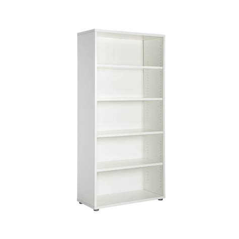 5 shelf bookcase white shop tvilum white 5 shelf bookcase at lowes