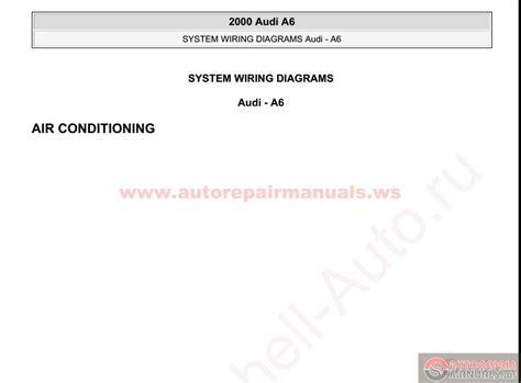 audi a6 2000 system wiring diagrams auto repair manual