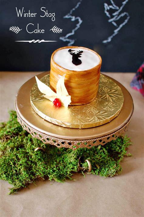 cake  christmas white aspen cake wood grain stag cake tutorial