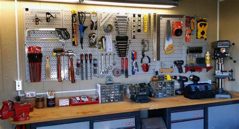 wall control gray garage pegboard  tool storage