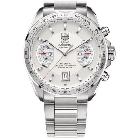 Tagheuer Grand Calibre 17 grand calibre 17automatic chronograph43 mm silver steel bracelet tag heuer