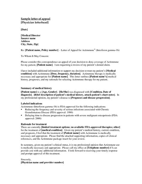 appeal template letter of appeal sle template best business template