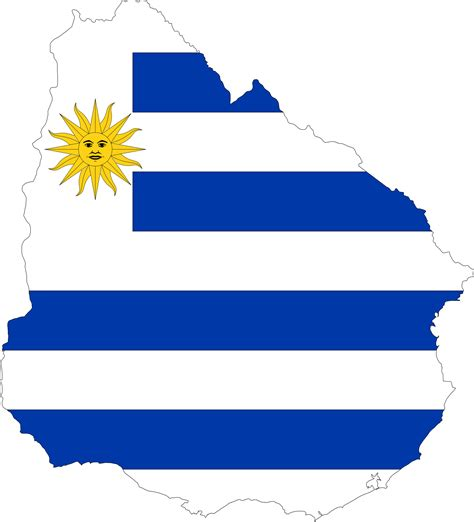 Uruguay Flag Outline by Clipart Uruguay Map Flag
