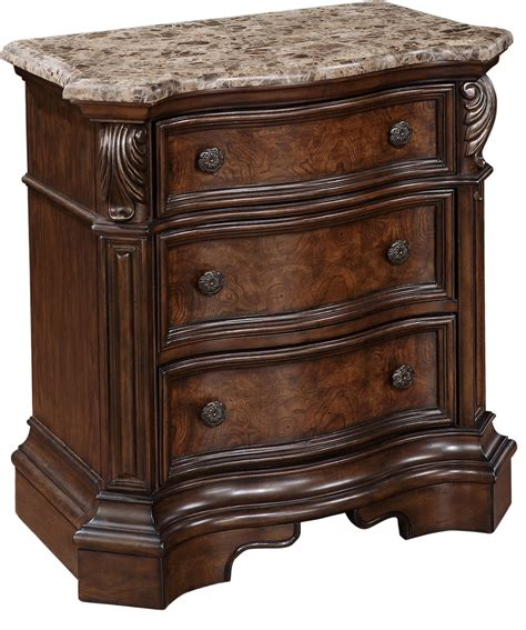 nightstand with marble top marble top nightstand fromberg 3 drawer nightstand