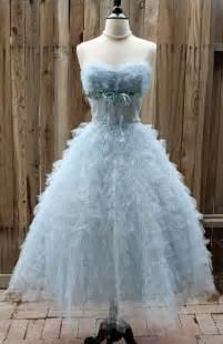 Baby blue 1950 s tulle vintage dresses 1950 s dresses prom dresses