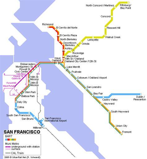 san francisco subway map carte de metro san francisco subway application