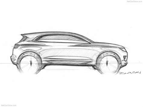 sketch side view lincoln suv side view car sketches suvs