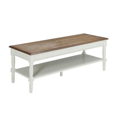 white country coffee table convenience concepts oxford white coffee table 203082w