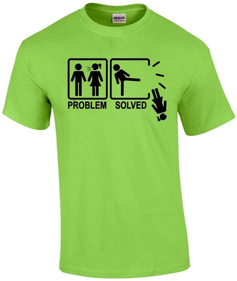 Tshirt Problem Solved Yellow problem solved marriage gift humor bachelor rude t shirt ebay