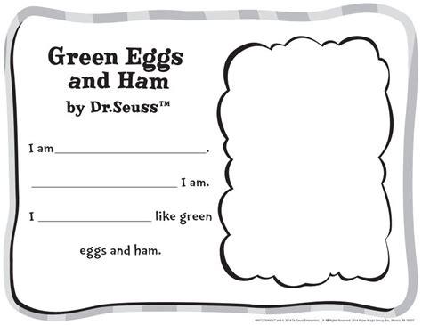 free dr seuss green eggs and ham classroom activity