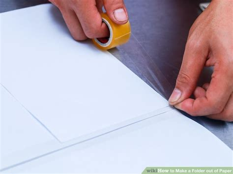 How To Make Out Of Paper - how to make a folder out of paper 13 steps with pictures