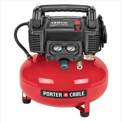 porter cable c2002r pancake air compressor 6 gallon free factory reconditioned