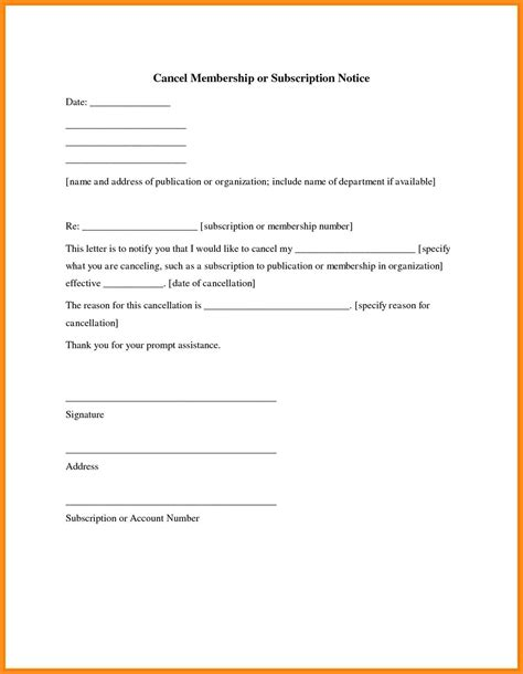 Letter Writing Format For Cancellation 8 Writing A Letter To Cancel Membership Agenda Exle