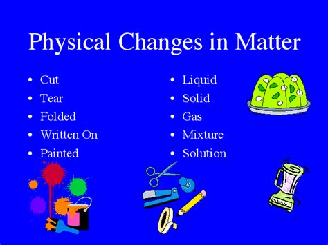 exle of physical change mr gortney s 8th grade science class class notes