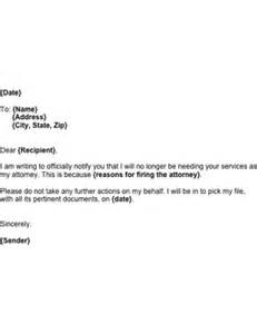 Letter To Attorney Template Letter Firing A Lawyer Template