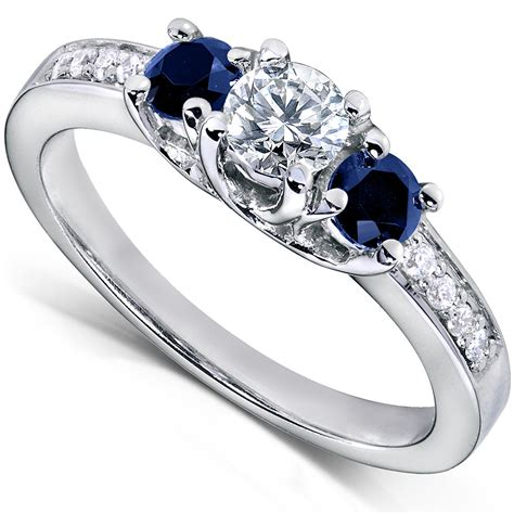 3 In 1 Rings blue sapphire and engagement ring 3 5 carat ctw in14k white gold ebay