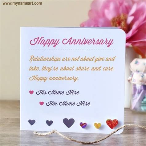 free anniversary ecard editing write cute couple name on