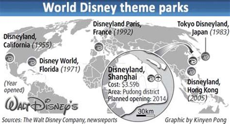 theme park names around the world disney gets china s nod for shanghai theme park people s