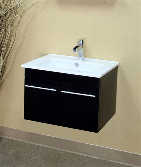 bathroom sink pulling away from wall 23 6 inch modern bar pull floating single wall mount style