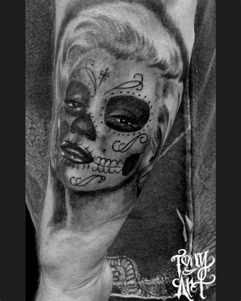 marilyn monroe day of the dead tattoo day of the dead images designs