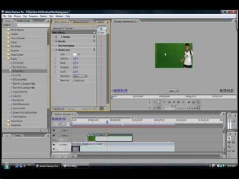 tutorial adobe premiere pro cs3 using chroma key in adobe premiere pro cs3 youtube