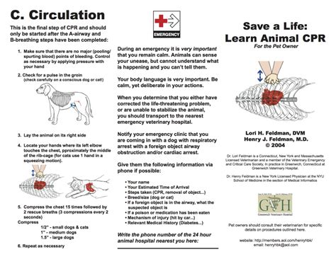 cpr for dogs free printable pet cpr and emergency pet posters how to do cpr on a