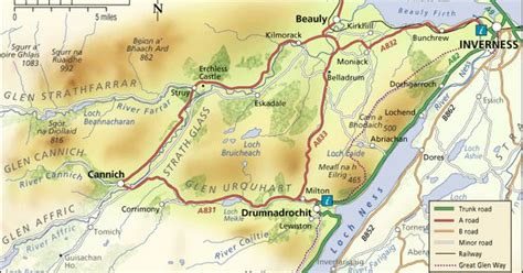 loch ness map drumnadrochit loch ness map wip quot of the lake