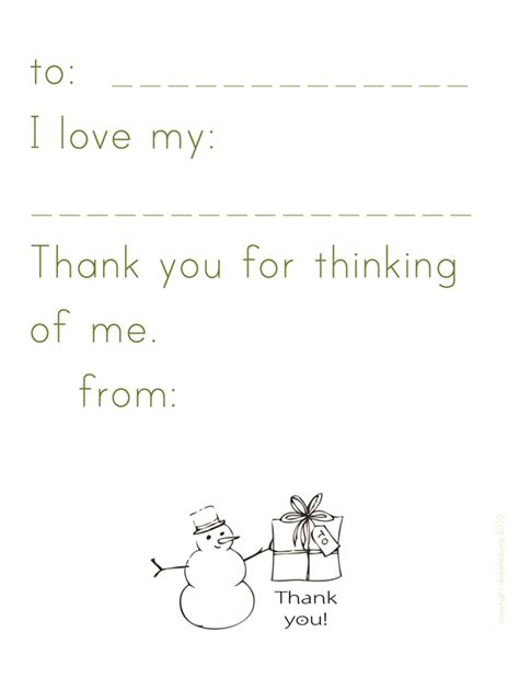 dabbled simple thank you note template printable for