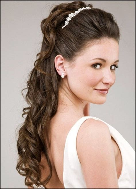 Wedding Hairstyles Half Up Half Down With Tiara And Veil | half up half down wedding hairstyles with tiara and veil