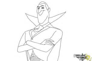 How To Draw Dracula From Hotel Transylvania 2  DrawingNow sketch template