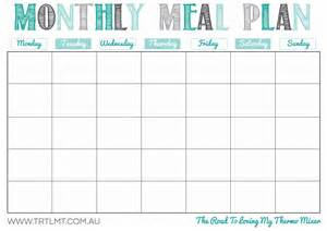 food calendar template 8 best images of meal planning template printable