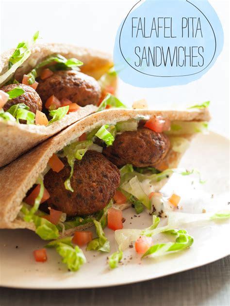 falafel pita sandwiches sandwich recipe spoon fork bacon