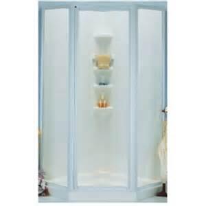masco bath shower enclosure kit neo angle white 38 in