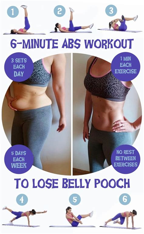 lose belly pooch with this 6 minute abs workout