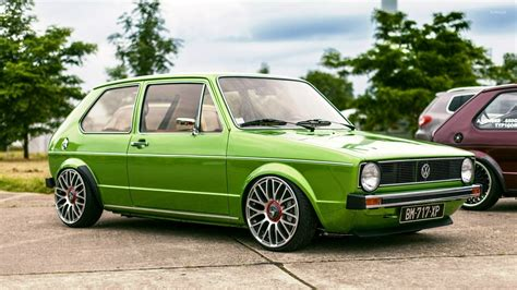 green volkswagen golf green volkswagen golf mk1 side view wallpaper car