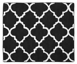 trellis black and white collection accent floor rug