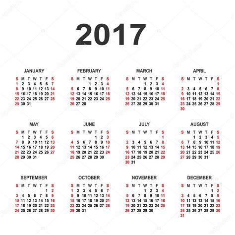 Calendario Week 2017 Simple 2017 Year Calendar Vector Circle Calendar 2017