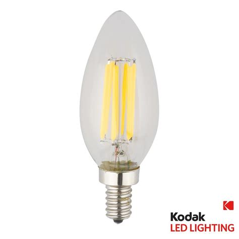 Kodak 55w Equivalent Warm White E12 Candle Torpedo Warm Led Light Bulbs