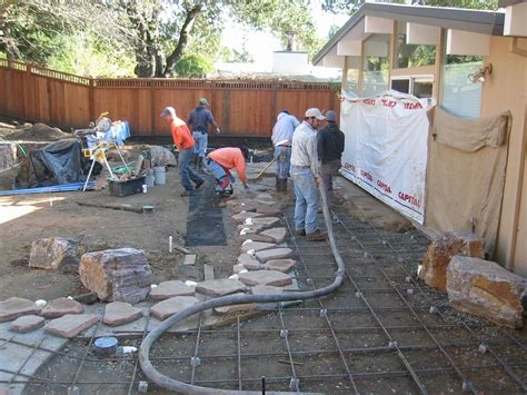 poured concrete patio concrete patio ideas the human footprint