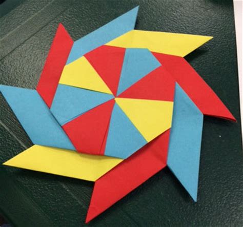 How To Make A Pinwheel Origami - origami octagon pinwheels if then creativity