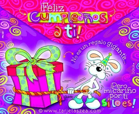 imagenes de cumpleaños tarjetas zea tarjeta de cumplea 241 os con mucho cari 241 o conejo guido