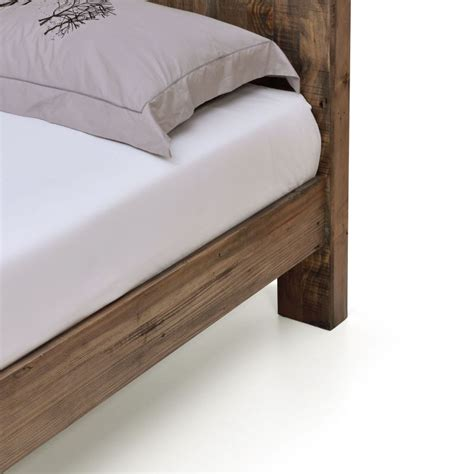 bed frames boston boston rustic pine recycled timber bed frame buy